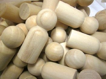 Bulk Pack of 50 Little Peg Doll Wooden people for Wood Toys and games Man peg Dolls